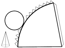 Resultado de imagen para patrones para hacer un cono - Como hacer un cono ...