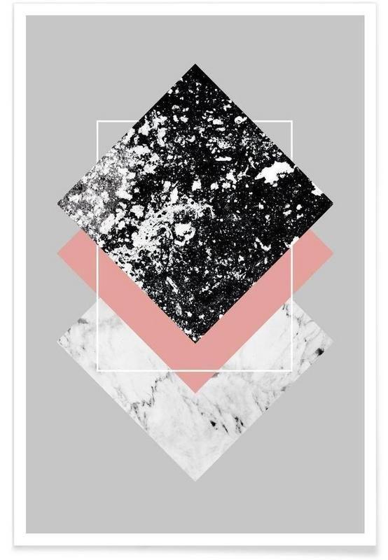 geometric textures 1 als premium poster von mareike b hmer juniqe quadros geom tricos. Black Bedroom Furniture Sets. Home Design Ideas