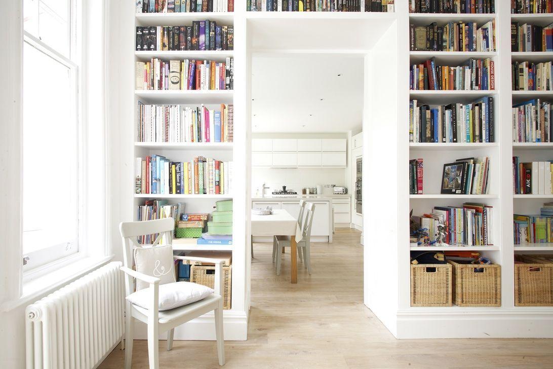 Lovely chunky white bookcases. | Decor ideas | Pinterest | Shelving ...