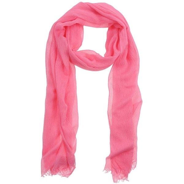 STEFANEL Stole ($24) ❤ liked on Polyvore featuring accessories, scarves, pink, pink shawl, fringe shawl, viscose scarves, pink scarves and fringe scarves
