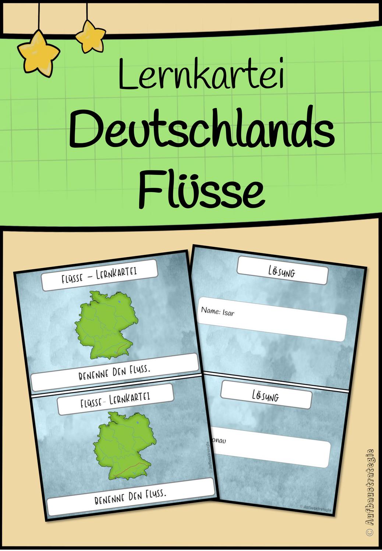 Lernkartei Deutschlands Flüsse – Unterrichtsmaterial im Fach ...