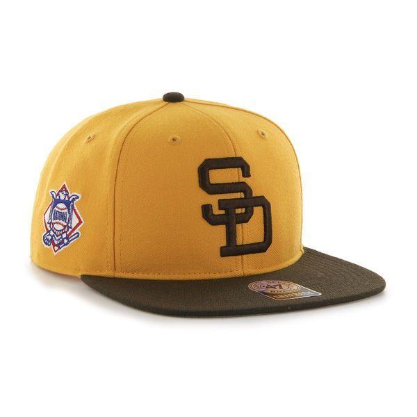 05456b63b060b ... sale san diego padres 47 brand gold sure shot two tone adjustable snapback  hat cap 53ab7 ...