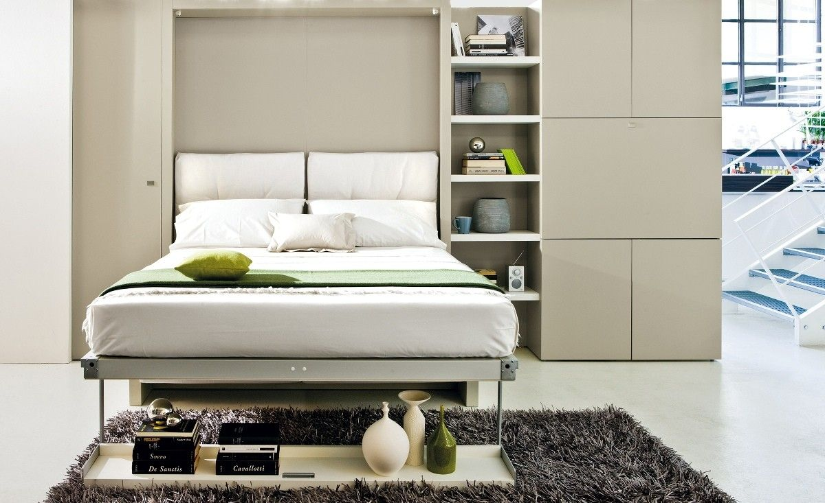 Ikea Schrankbett Bangsund In 2020 Platzsparende Mobel Schrankbett Kleine Wohnung Schlafzimmer