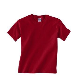 f955cb483a44 Gildan G500B Youth Heavy Cotton 5.3 oz. T-Shirt - Blank   Plain (cardinal  red)
