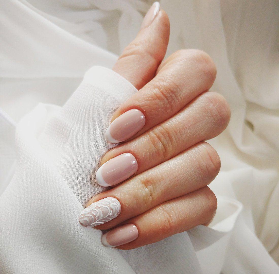 Zatopiona W Morzu Delikatnosci Semilac White Tip Nail Designs White Tip Nails Nails