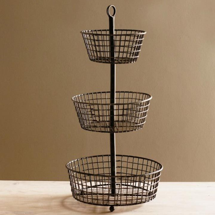 Merveilleux Decorative Wire Baskets Kitchen