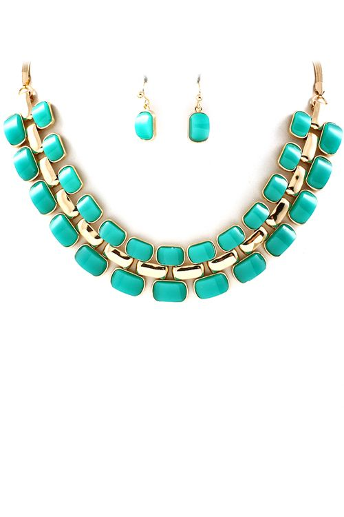 Teal Carmen Necklace   Awesome Selection of Chic Fashion Jewelry   Emma Stine Limited