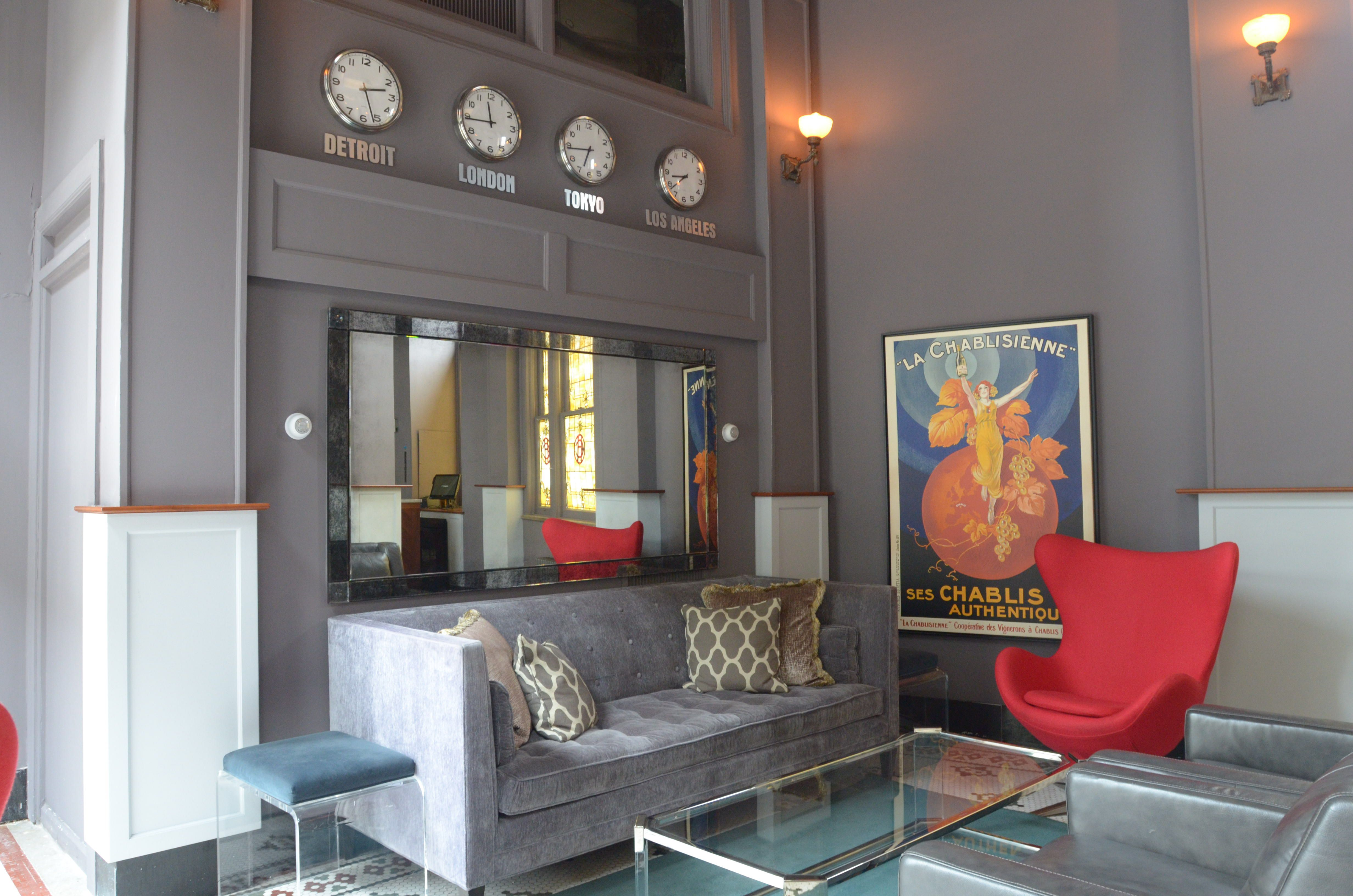 Modern Lobby At The Ashley Apartments In Detroit Mi Home Decor Common Area Home