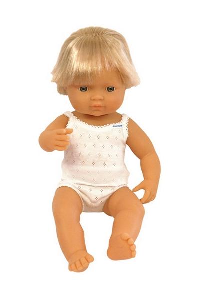 Miniland 15/'/' Anatomically Correct Baby Doll Caucasian Boy and Caucasian Girl