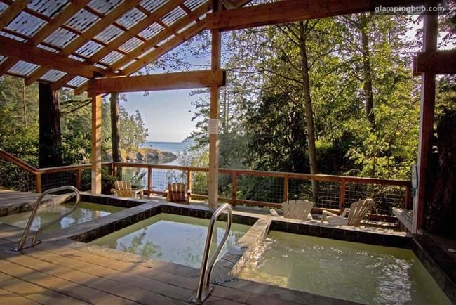 Pool in San Juan Islands, Washington | Luxury Camping Glamping