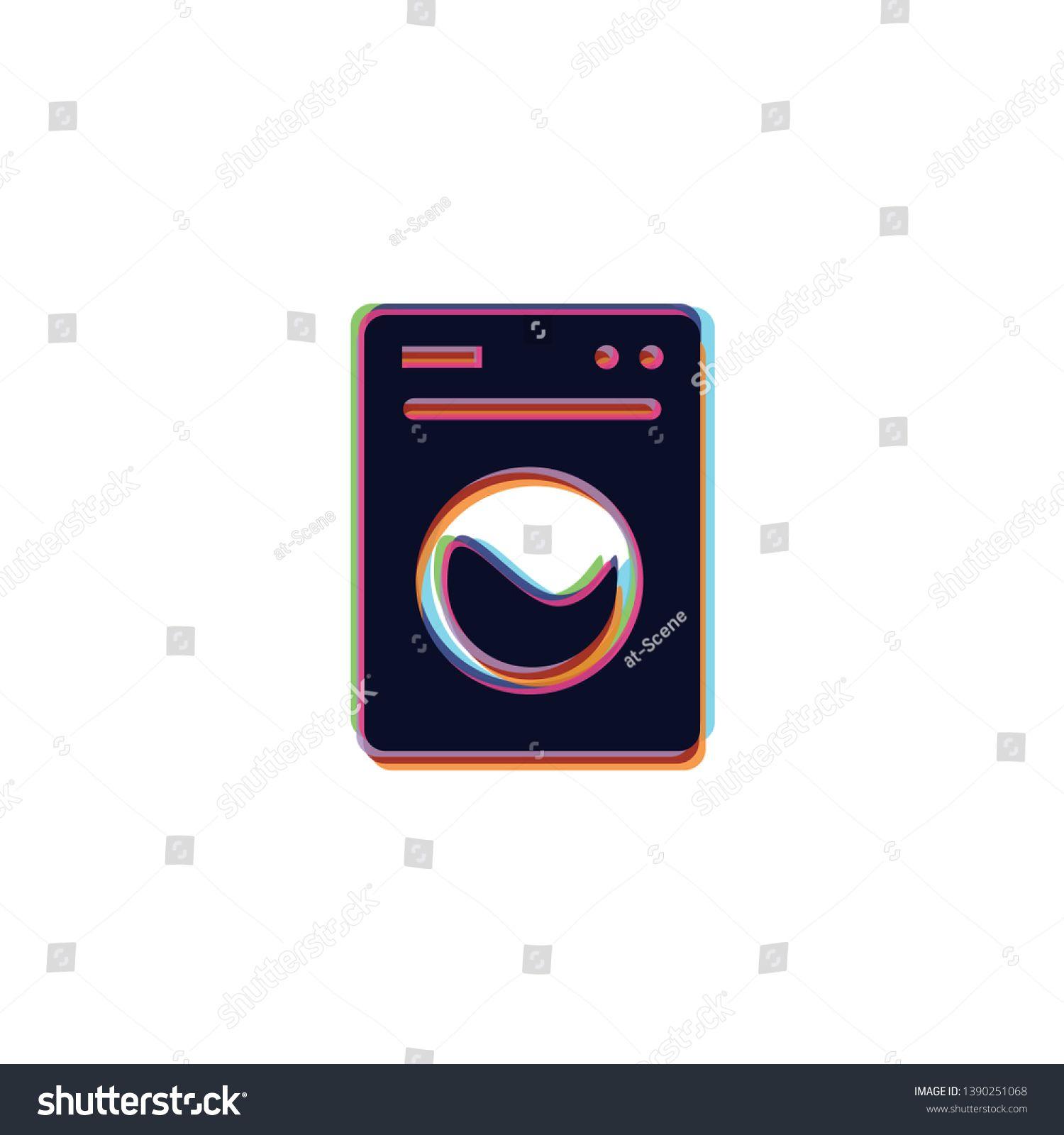 Laundry Vector App Icon Sponsored , AFFILIATE, Vector