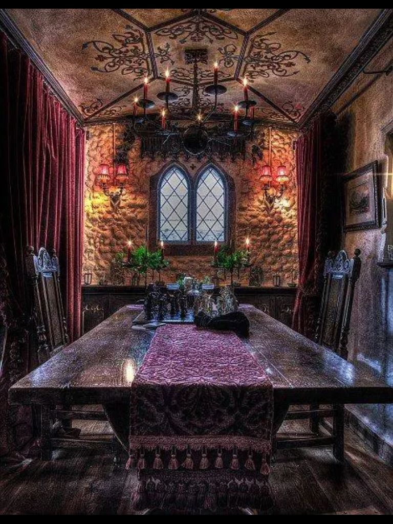 Beautiful Gothic Dining Room Gothic Interior Gothic House House Design #victorian #gothic #living #room