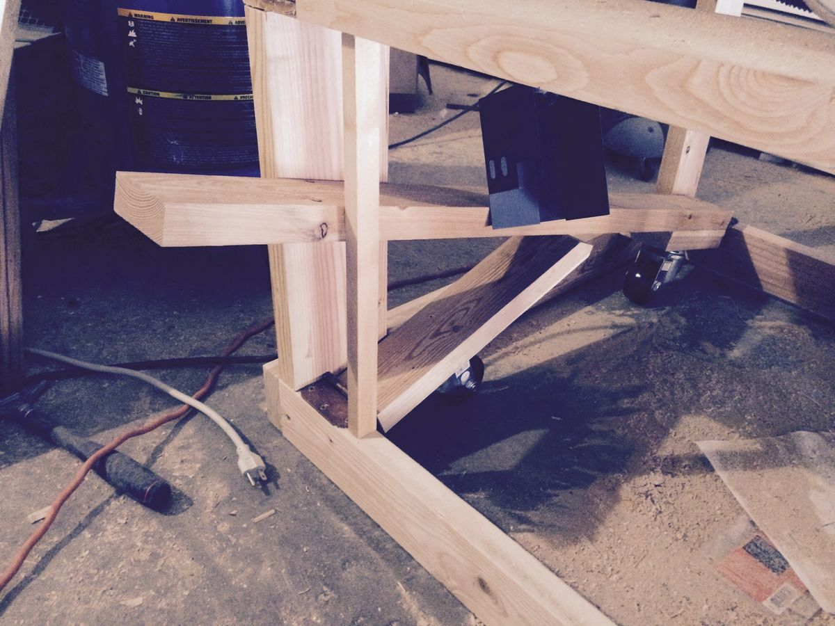 Retractable Workbench Wheels With Images Workbench On Wheels