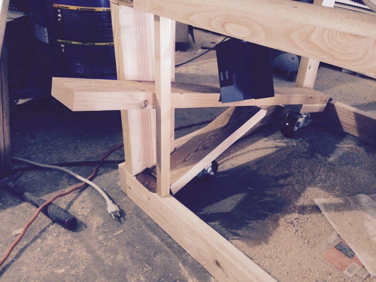 Retractable workbench wheels Workbench on wheels