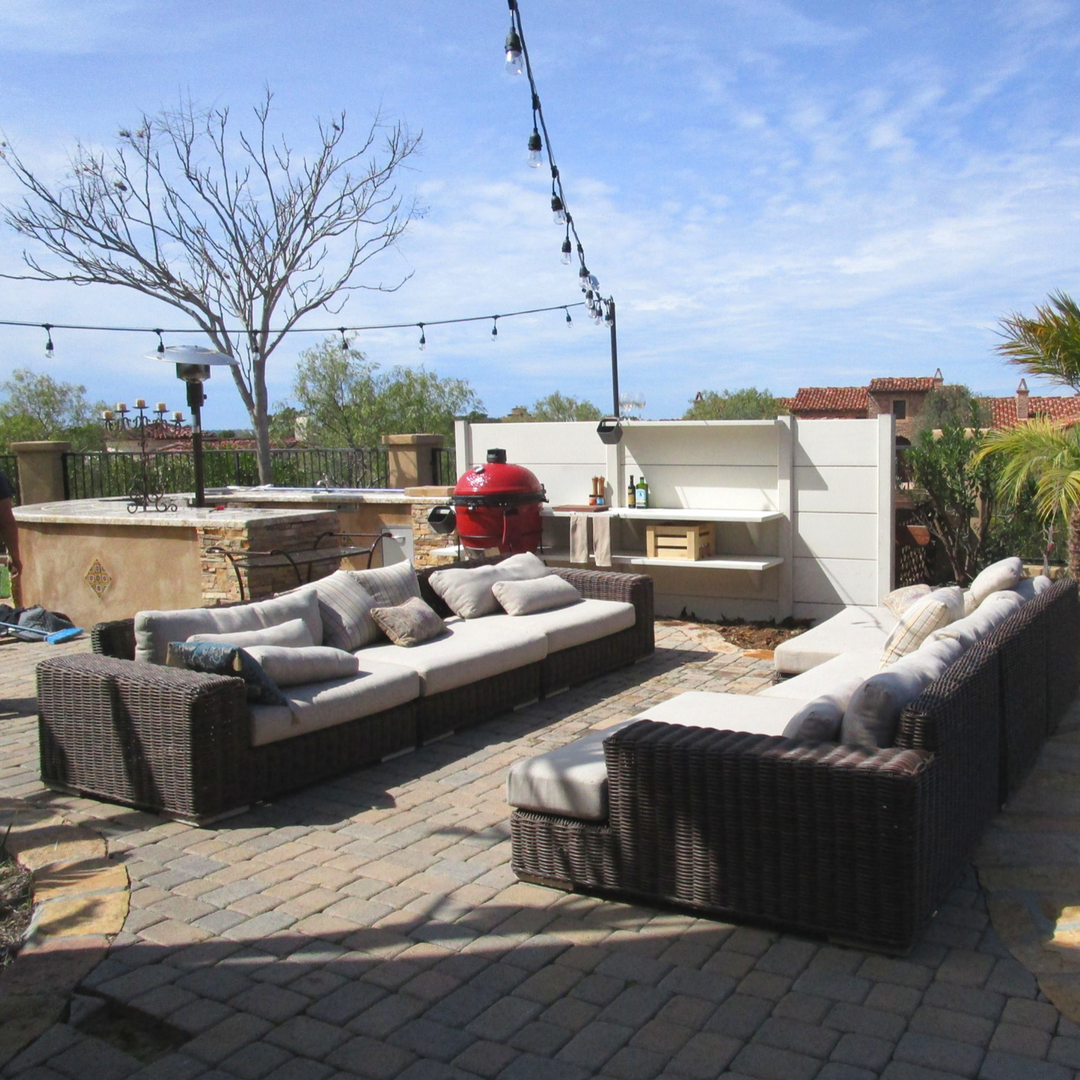 Create The Ultimate Outdoor Lounge Area With WWOO California Concrete Outdoor  Kitchen