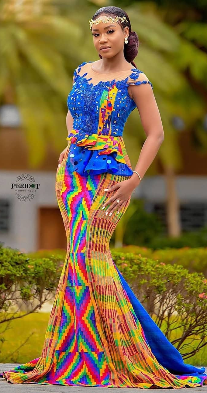 Beautiful Kente Wedding Bride Latest African Fashion Dresses African Clothing Styles African Print Fashion Dresses