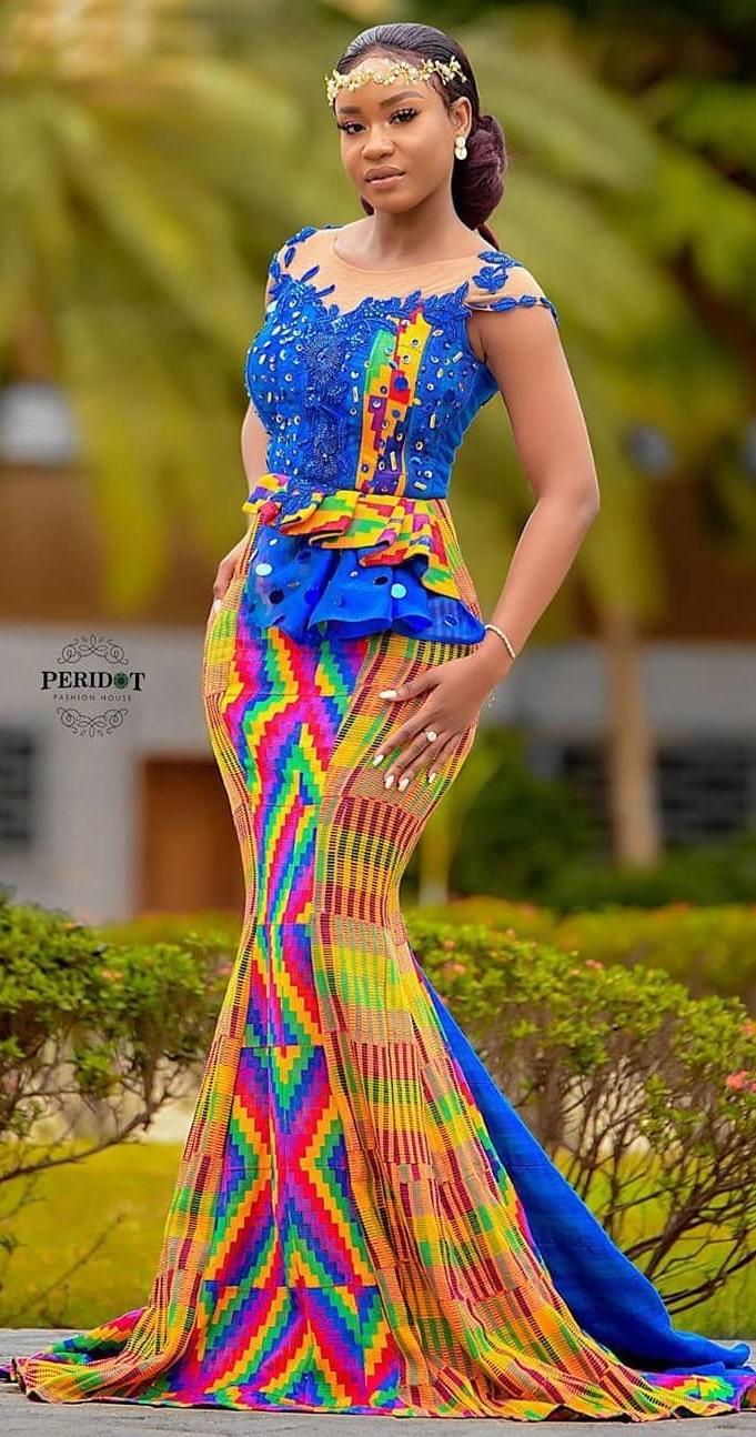 Beautiful Kente Wedding Bride Latest African Fashion Dresses African Fashion Modern African Attire