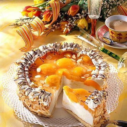 Pfirsich-Sekt-Torte Rezept | LECKER