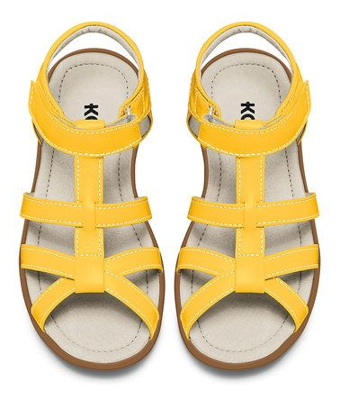 Look at this #zulilyfind! KAI Yellow Harper Sandal #zulilyfinds