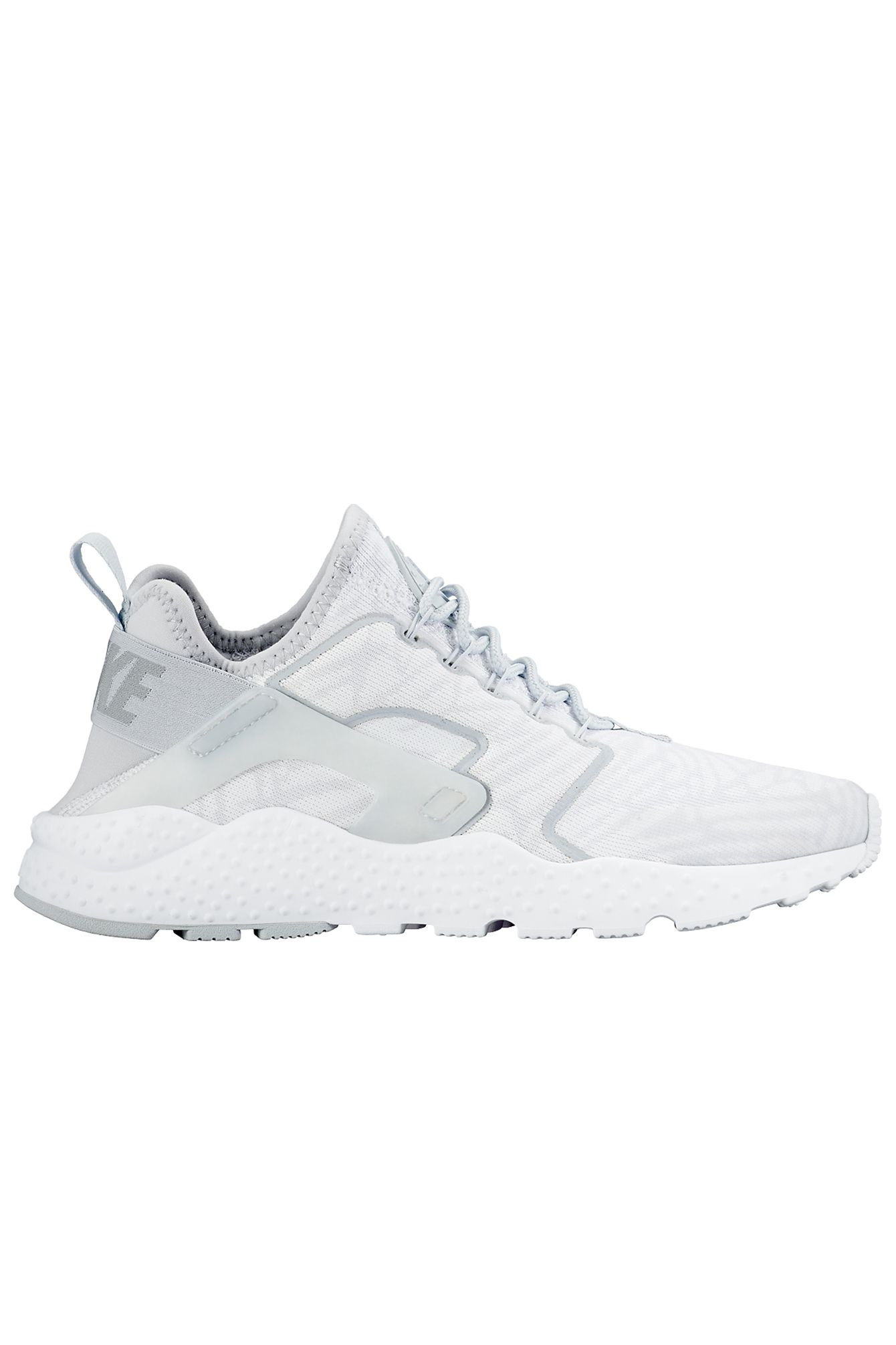 Nike Air Huarache Run Ultra Jacquard – White / Metallic Silver / Wolf Grey