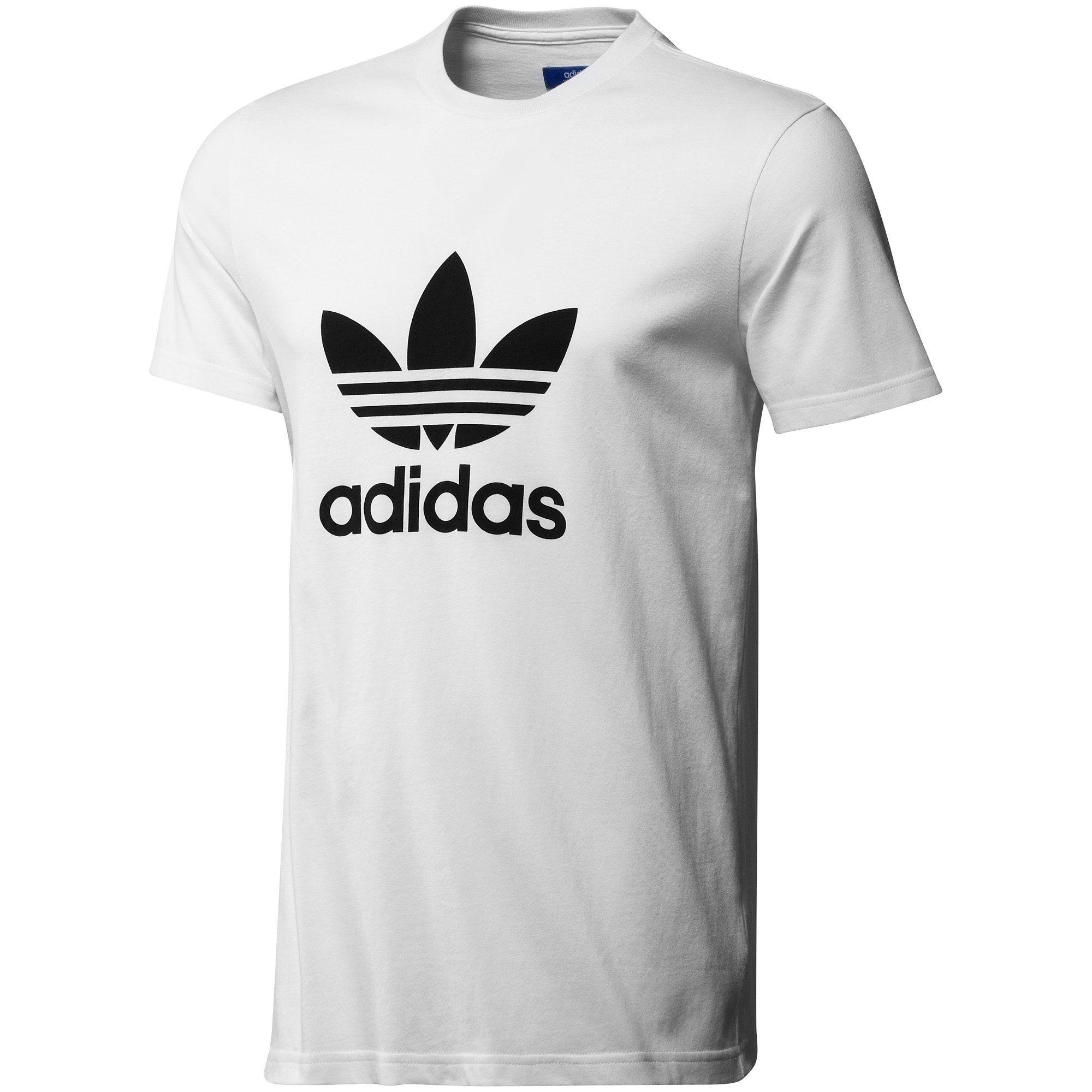 camiseta Trefoil Hombre, White / Black