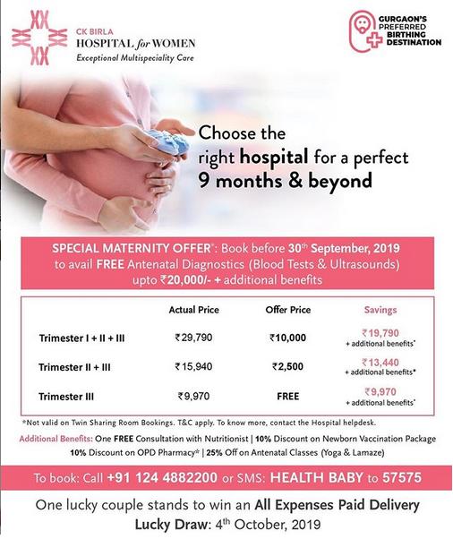 Special Maternity Offer For September Hospital Obstetrics Best Hospitals