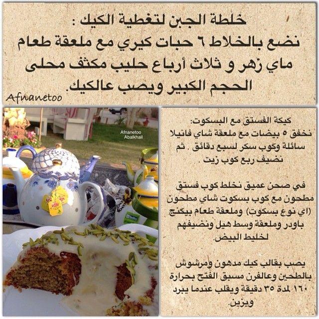تفضلوا الوصفة بصفحة وحدة مع الترجمة بالانجليزي وصفاتafnanetoo Flourless Pistachio Cake Whisk 5 Eggs With Va Pistachio Cake Food Pictures Arabian Food