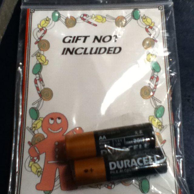 Secret santa recipient gets a gift not included for christmas secret santa recipient gets a gift not included for christmas negle Choice Image