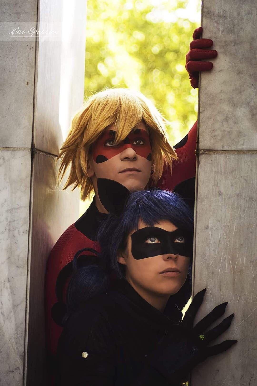 Pin By L3uttercup Fields On Them Cosplays Pictures Miraculous Ladybug Comic Miraculous Ladybug Carnival Face Paint