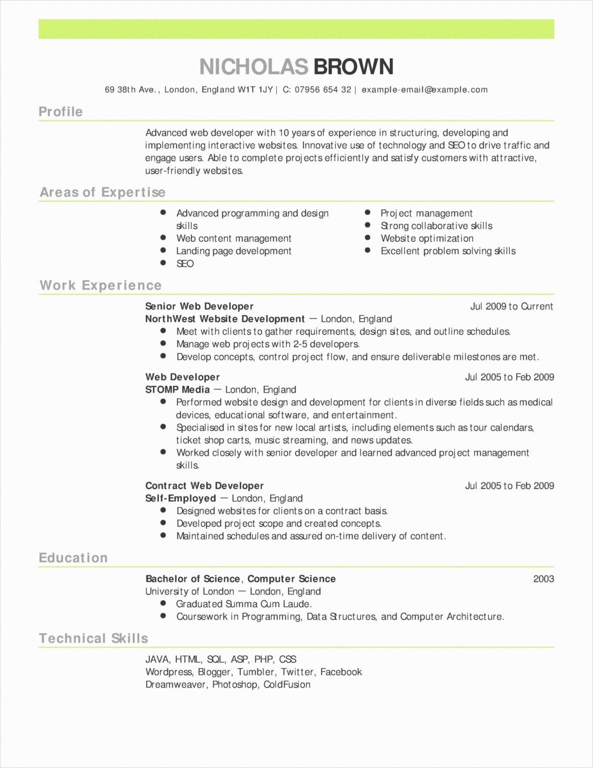 037 College Student Resume Template Microsoft Word Free