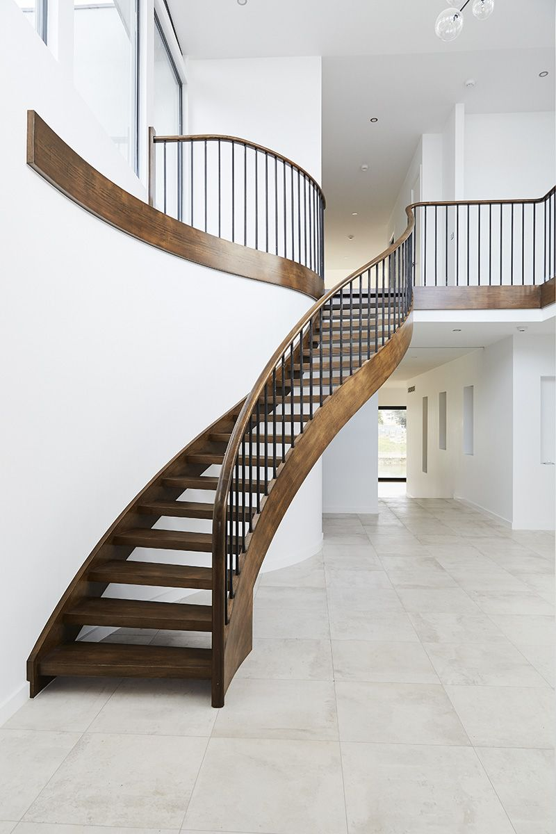 Best Stairs Curved Staircase Victorian Ash Timber Steel 400 x 300