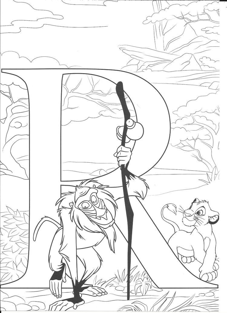 Disney Disney coloring pages, Abc coloring pages, Disney