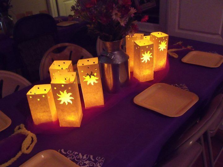 Tangled centerpieces theme party pinterest