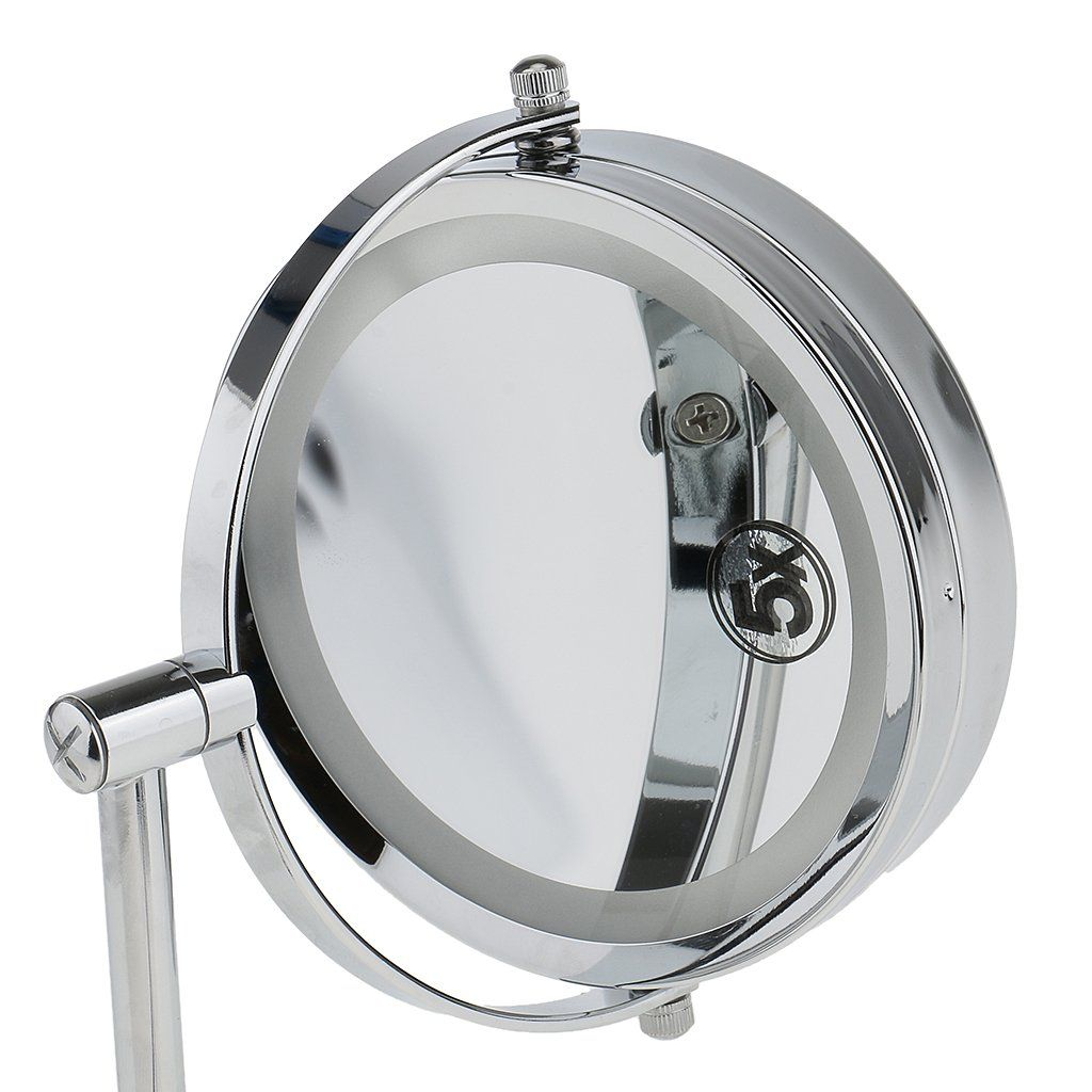 Dovewill Twosided Lighted 5x Magnifying Vanity Mirror Wall Mounted Swivel Makeup Shaving Extendable You Can Find More Details By Visiting The