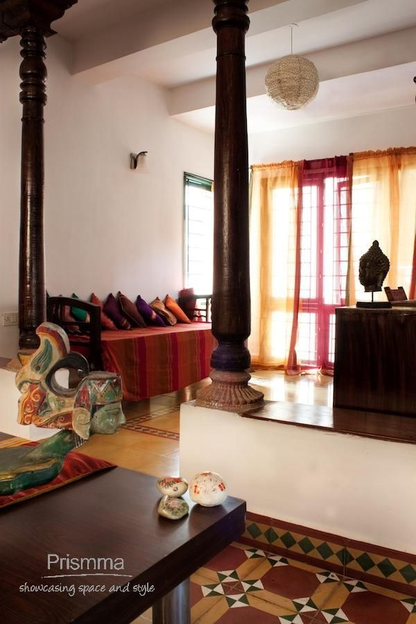 Indian Traditional Interior Design Ideas For Living Rooms: Chettinad Home Design: Traditional Indian Home