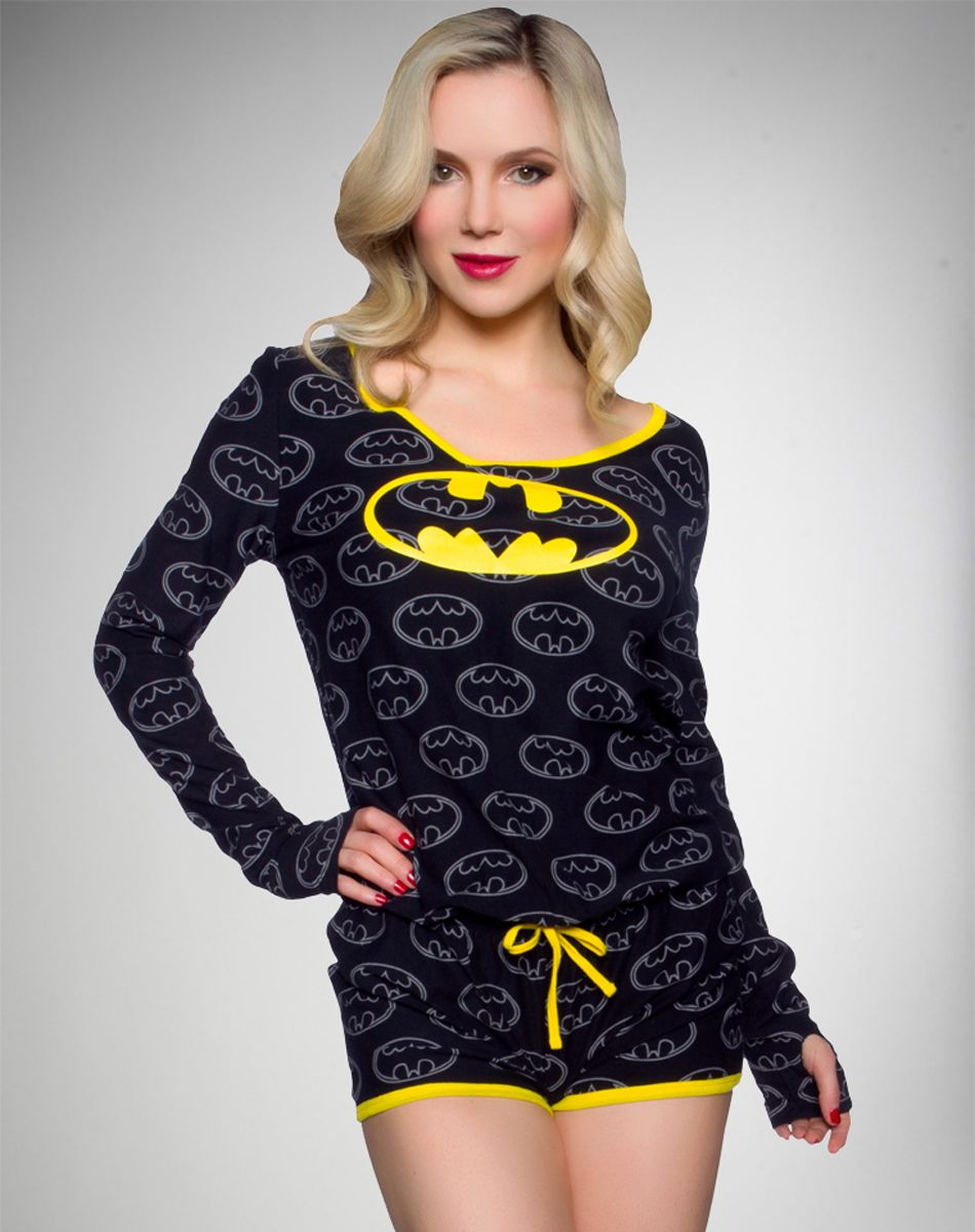 Batgirl Long Sleeve Romper Batman Outfits Long Sleeve Romper