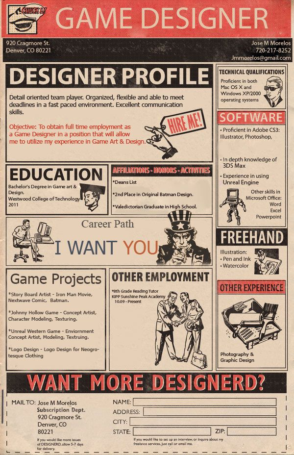 game-designer-CV Cool CV Pinterest Graphic design inspiration - game producer sample resume