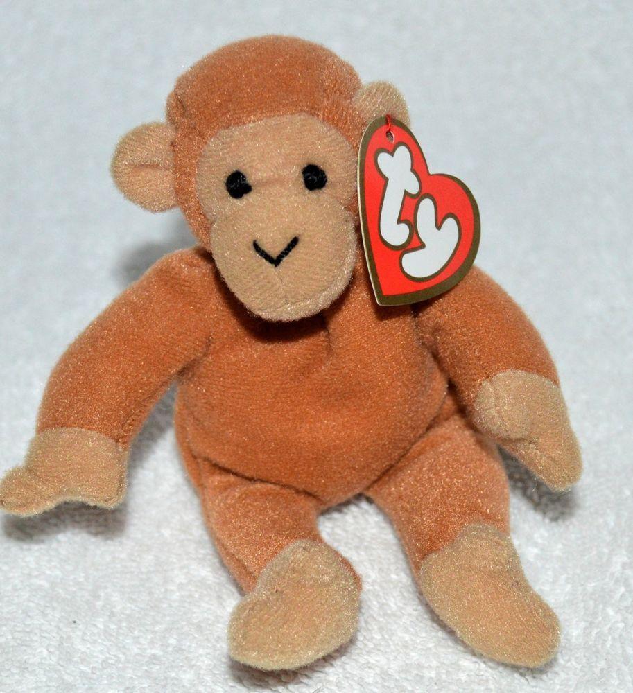 TY  Teenie Beanie Babies Original  Bongo the  Monkey Retired 1993 McDonald s  Mint  Ty bb32cedc6233