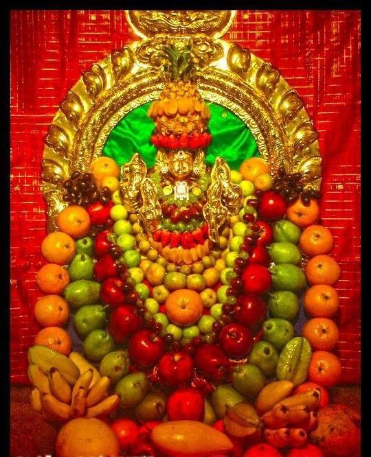 Shakambari Devi Alankaram - TemplePurohit.com - http://ift.tt/1HQJd81