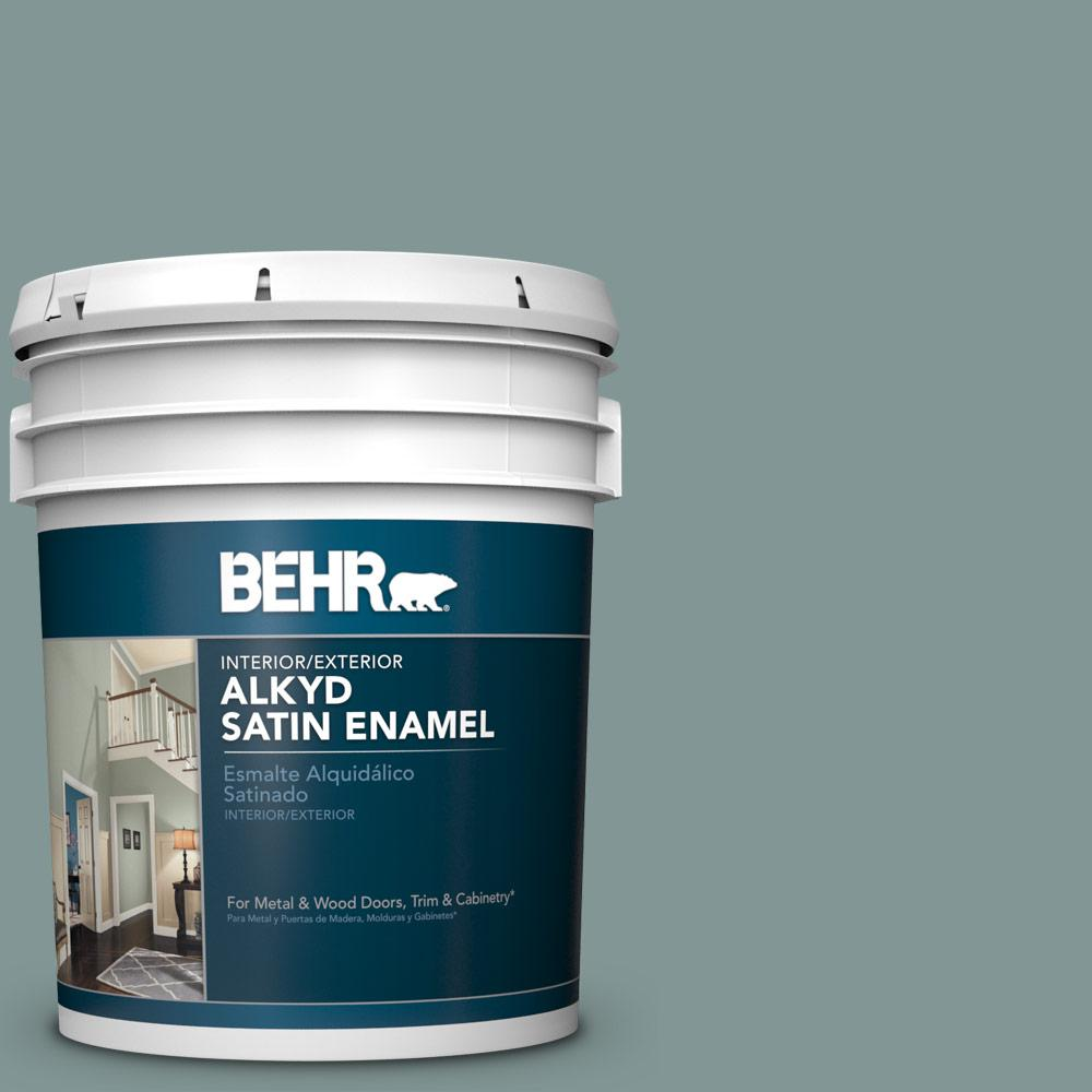BEHR 5 gal  #T18-15 In The Moment Urethane Alkyd Satin