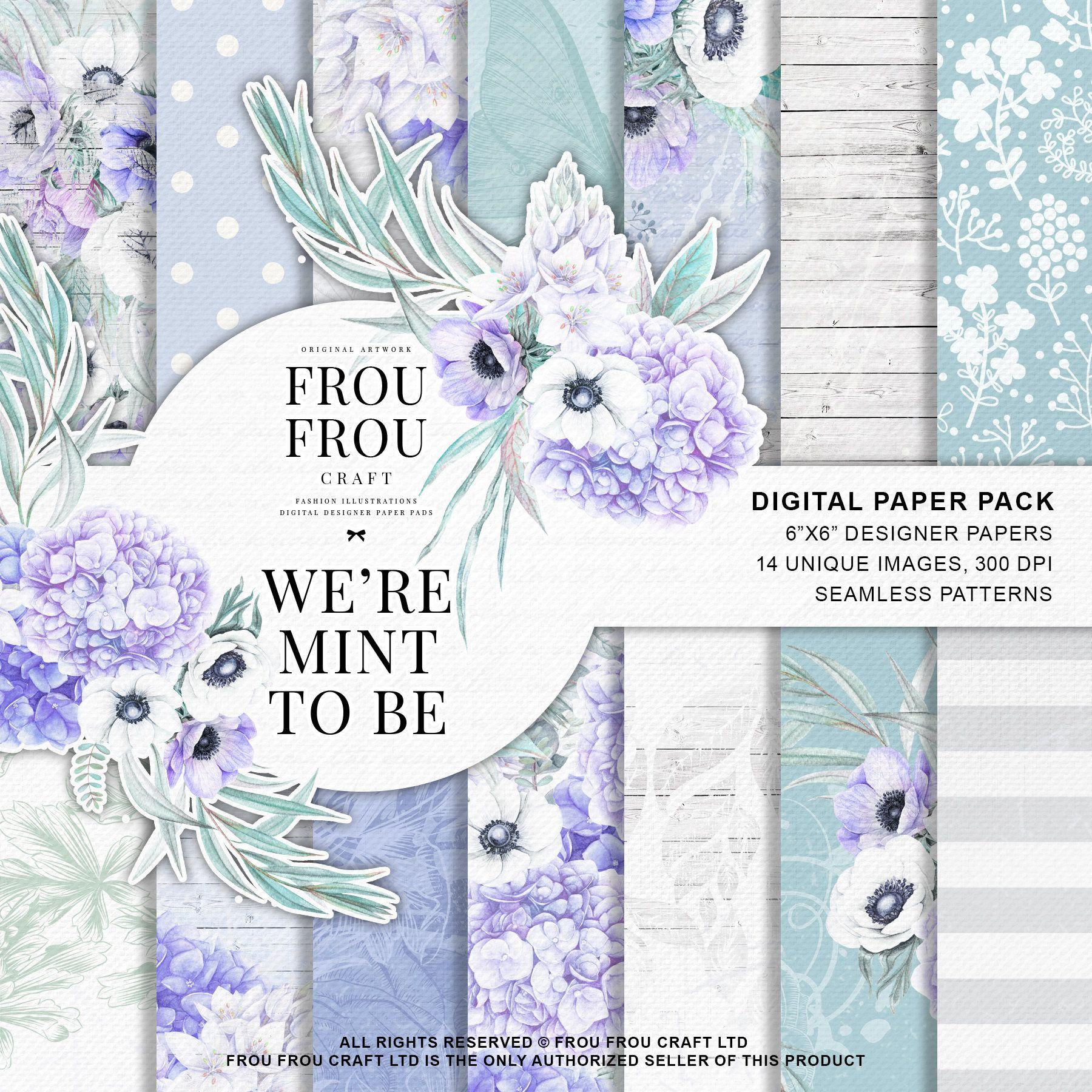 Digital Scrapbook Paper Floral Digital Scrapbooking Flower Paper White /& Bold Color Background Patterns Commercial Use OK