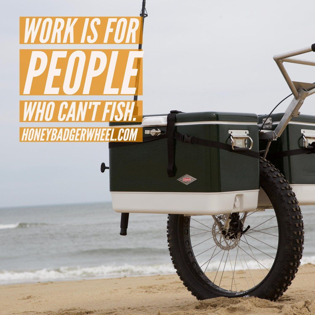 Honey Badger Wheel Fishing Cart for the Beach, Surf, and