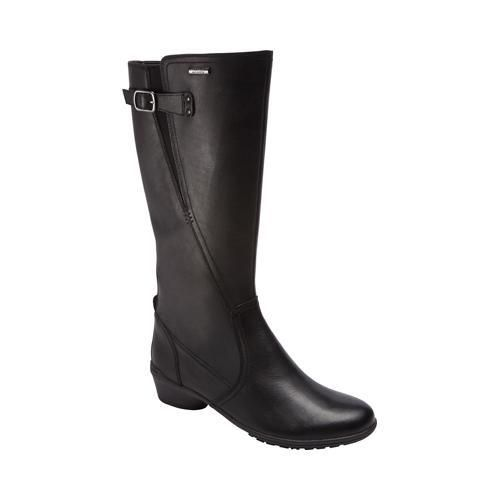 Women's Rockport Cobb Hill Rayna Waterproof Wide Calf Boot Black ...