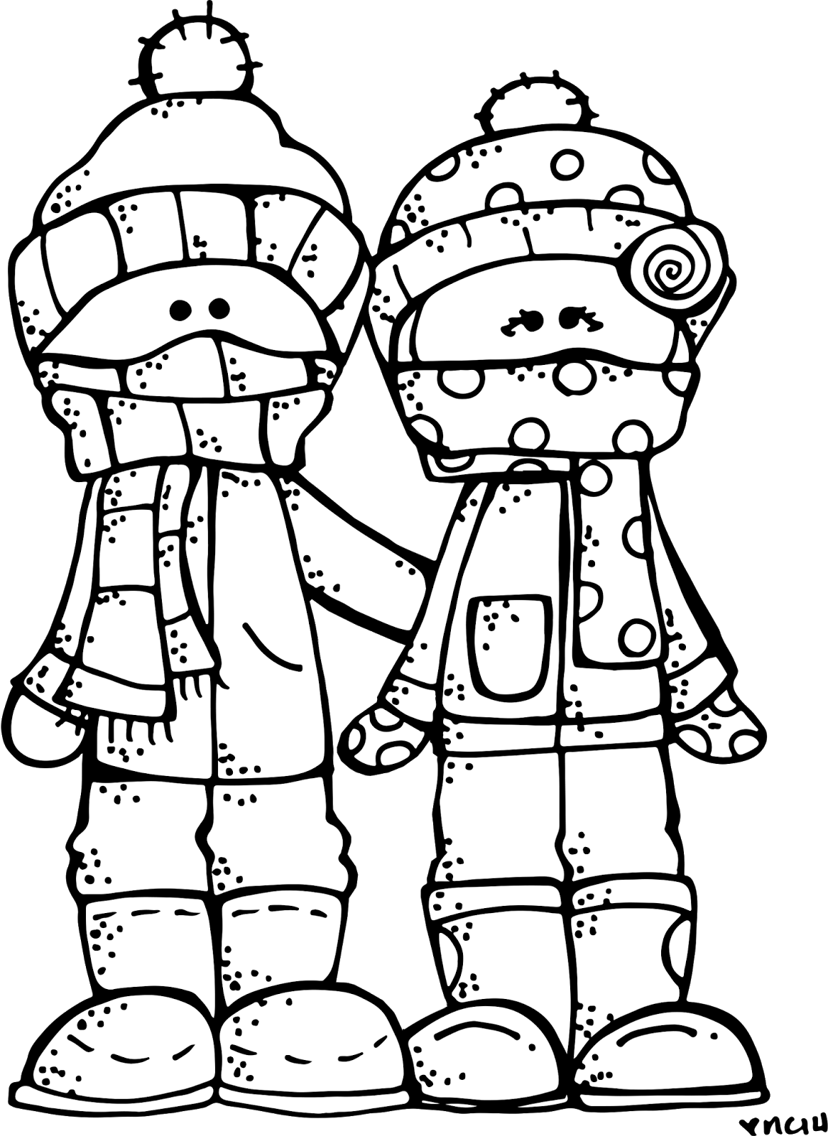 Melonheadz Illustrating Happy Winter! :) | :: Stamps / Digis 1 ...