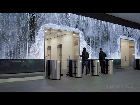 Glorious Indoor Waterfall Salesforce Lobby San Francisco Youtube Tabletop Fountain Fountains Indoor Waterfall