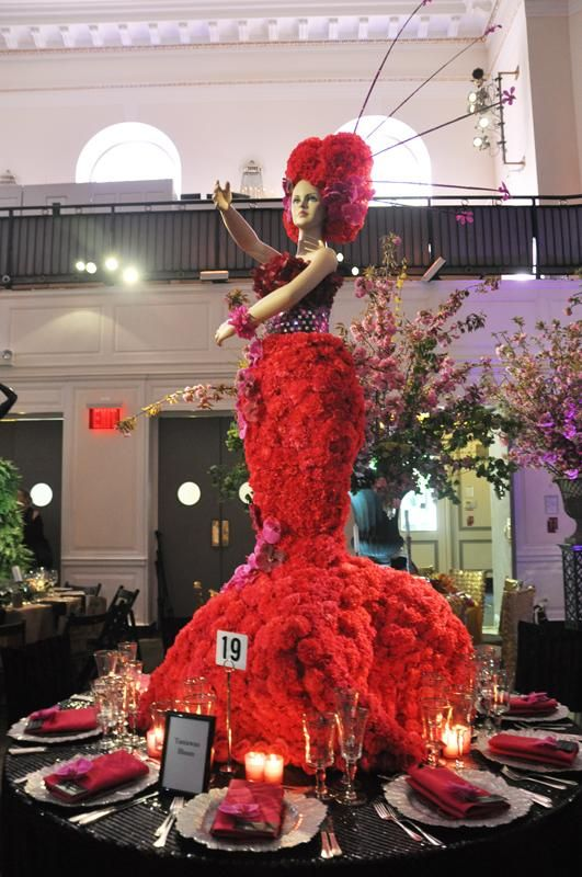 Snapshots Of The Fashion Inspired Centerpieces At The 2012