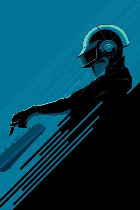 Daft Punk - Art, paintings, prints, and sculptures celebrating Daft Punk | http://gotk.co/10qpg3C
