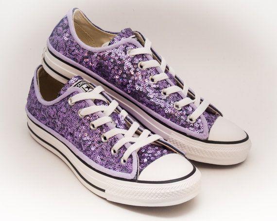 f8b3ea9a070 Lavender Purple Starlight Sequin Low Top Converse Sneakers in 2019 ...