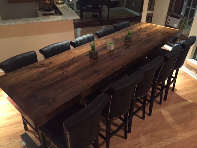Delightful Custom Pub Height Table By Ross Rustic Tables. Www.rosstables.com