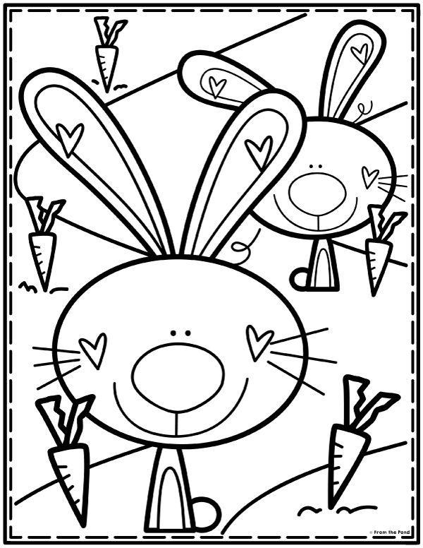 Coloring Club Library From The Pond Kindergarten Malvorlagen Malvorlagen Fruhling Ostern Zeichnung